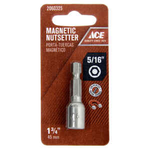 Ace  1/4 in. drive  x 1-3/4 in. L Chrome Vanadium Steel  Quick-Change Hex Shank  1  Magnetic Nut Set