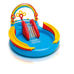 Intex  Multicolored  Vinyl  Inflatable Pool Rainbow Ring Play Center