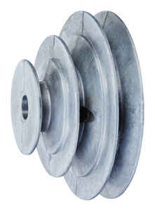 Chicago Die Cast  2 / 3 / 4 in. Dia. Zinc  V Groove 3-Step Pulley