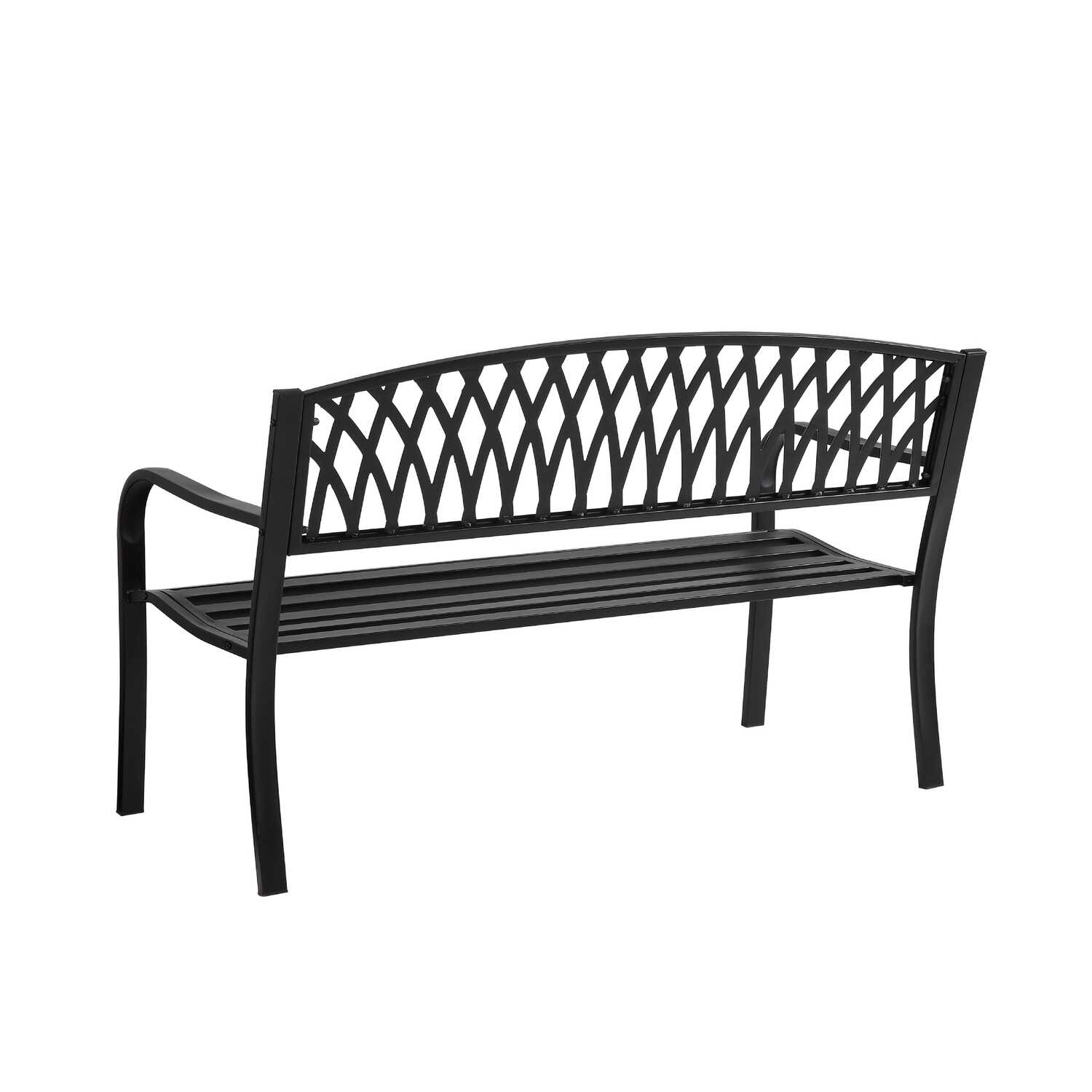 Living Accents Grass Back Park Bench Steel 33 46 In H X