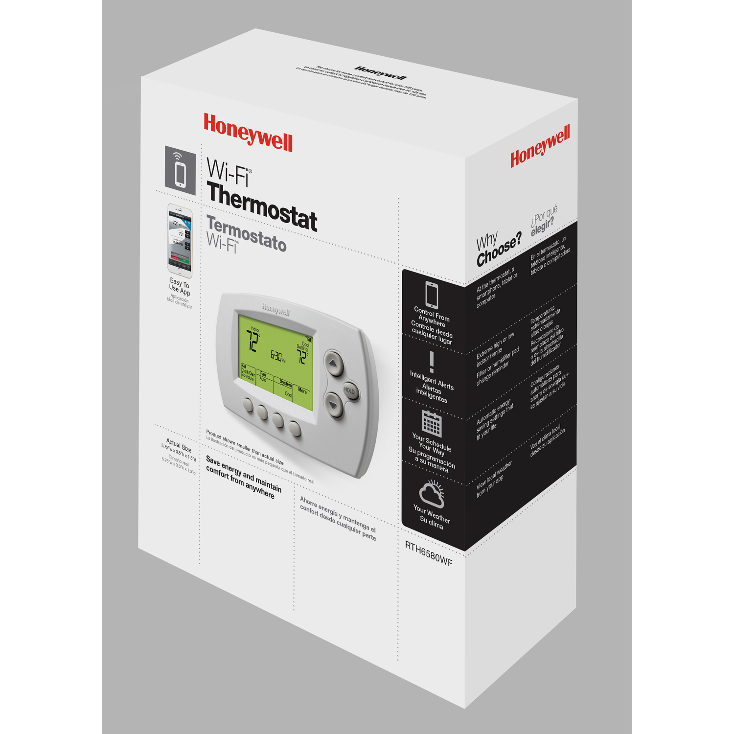 Honeywell  Built In WiFi Heating and Cooling  Touch Screen  Programmable Thermostat