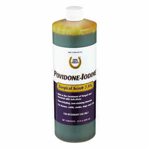 First Priority  Liquid  Povidone Iodine Surgical Scrub  For Horse 32 oz.