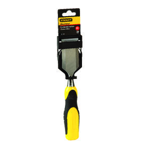 Stanley  1 1/2 in. W x 2-3/4 in. L Steel  Wood Chisel  Yellow  1 pc.