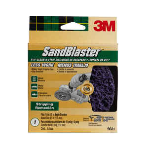 3M  SandBlaster  4.5 in. Ceramic Blend  Bolt-On  Sanding Disc  Coarse  3 pk