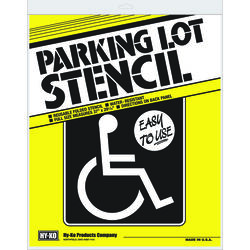Hy-Ko English White Informational Parking Lot Stencil 37 in. H x 29.25 in. W