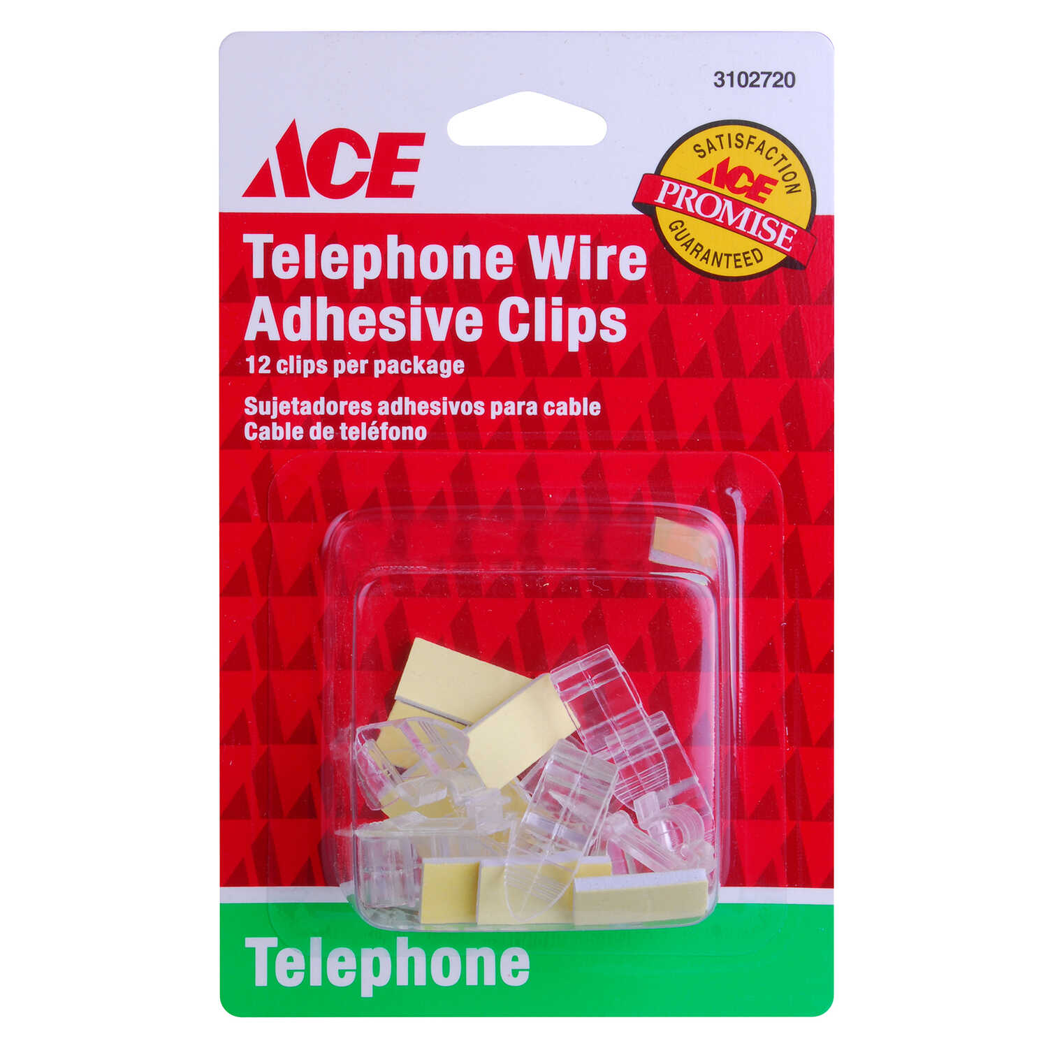 Ace  0 ft. L Clear  Modular Telephone Line Cable