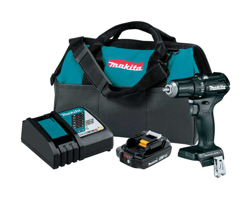 Makita  LXT Sub-Compact  18 volt 1/2 in. Brushless Cordless Drill/Driver  Kit 1700 rpm 2 speed