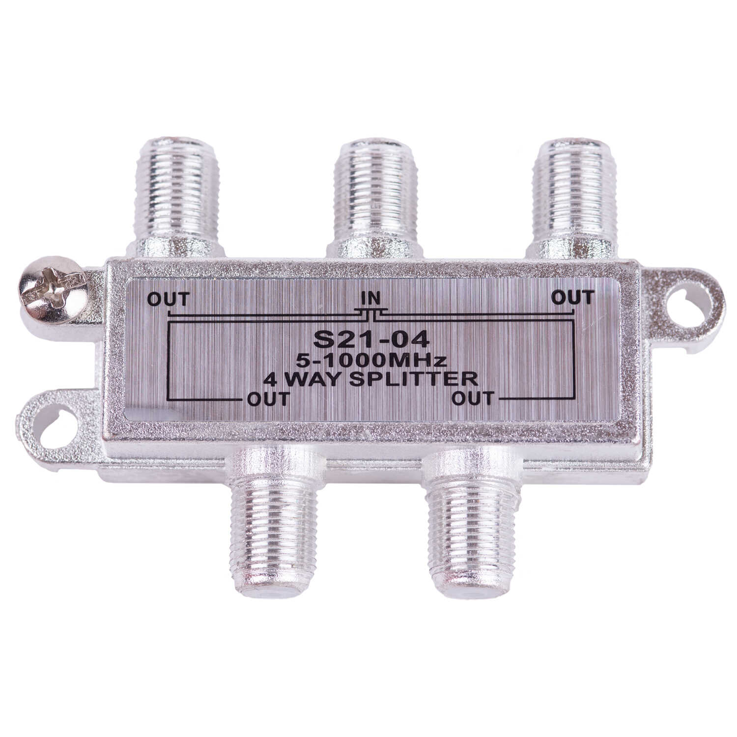 Monster Cable  Hook It Up  Four-Way Coax Cable Splitter  75 Ohm 1000 mHz 1 each