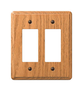 Amerelle  Contemporary  Aged Bronze  2 gang Wood  Rocker  Wall Plate  1 pk
