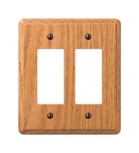 Amerelle  Contemporary  2 gang Wood  Wall Plate  1 pk
