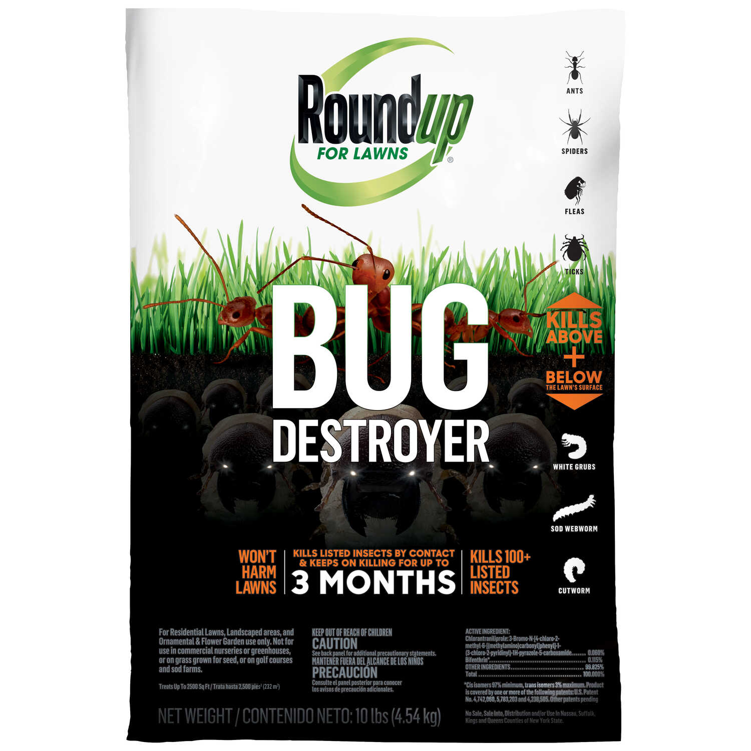 Roundup For Lawns  Bug Destroyer  Insect Killer  10 lb.