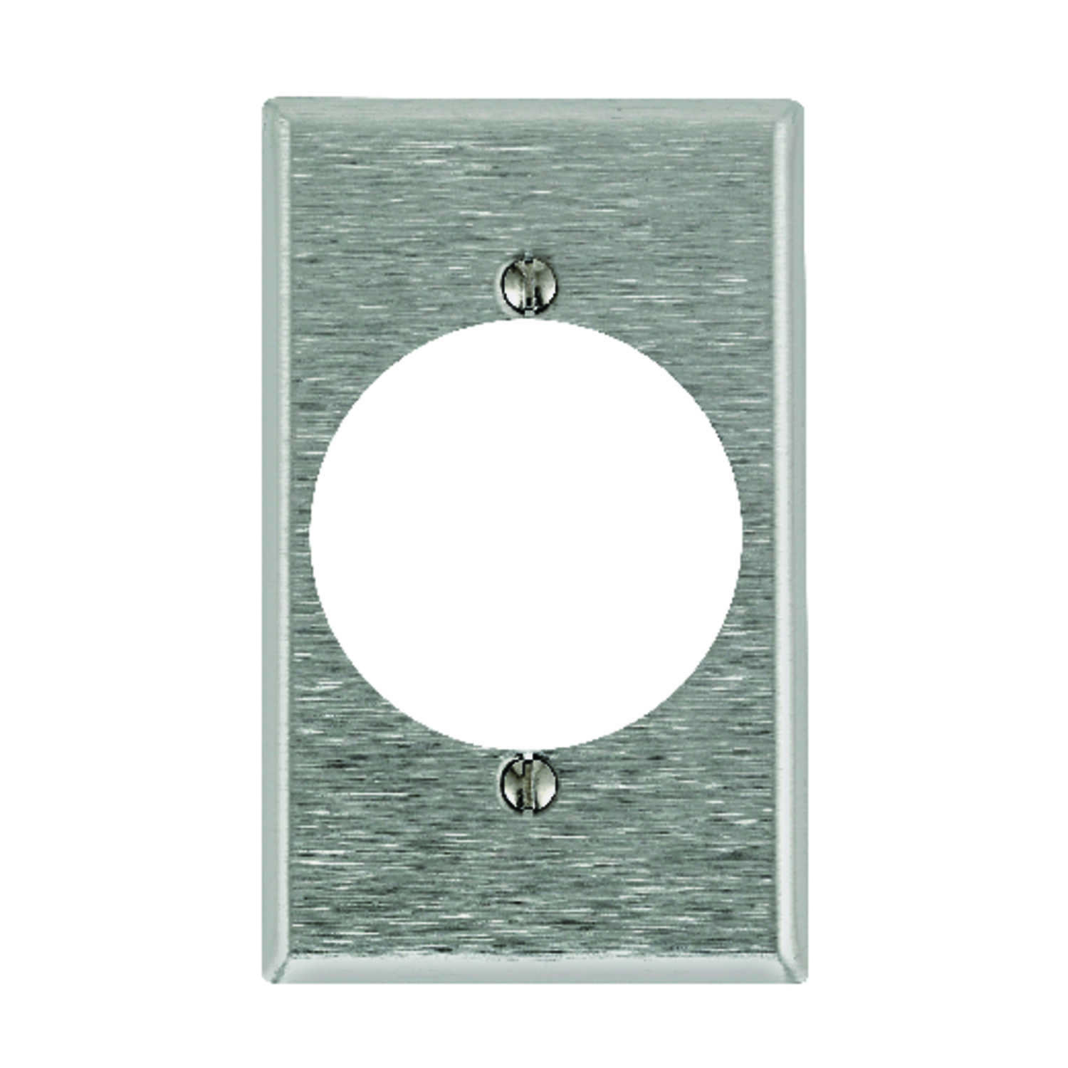 Pass & Seymour  Silver  1 gang Stainless Steel  Wall Plate  1 pk