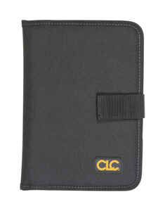CLC  7 pocket Polyester Fabric  Notepad Holder  6.3 in. L x 8.8 in. H Black