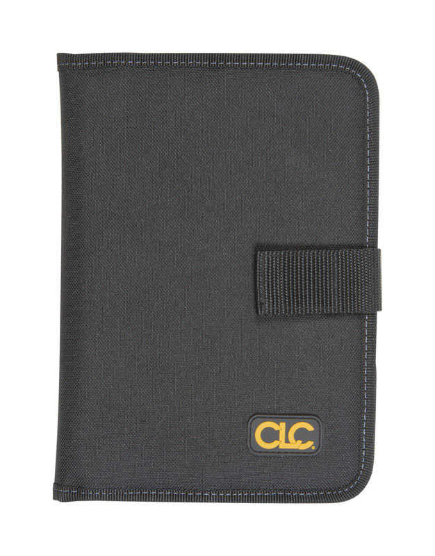 CLC  7 pocket Notepad Holder  Polyester Fabric  8.8 in. H x 6.3 in. L Black