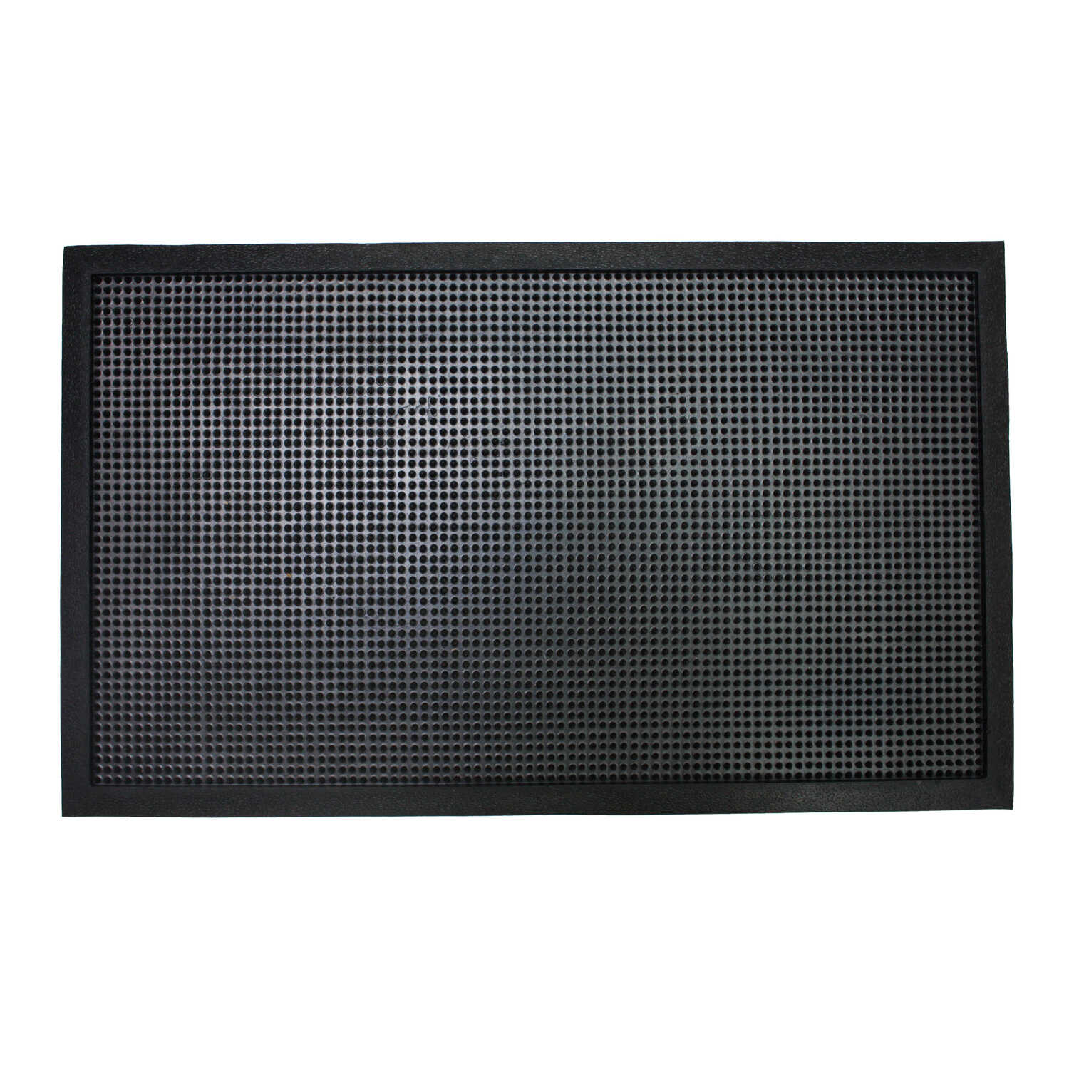 J & M Home Fashions  18 in. L x 30 in. W Black  Door Mat