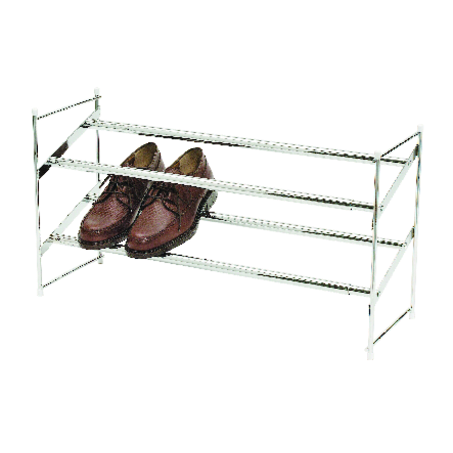 Whitmor  24 in. W x 14 in. L x 8-3/4 in. H Steel  Expanding and Stacking Shoe Rack