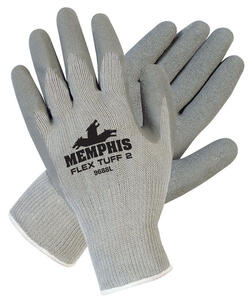 MCR Safety  Flex Tuff  Unisex  Cotton  Coated  Gloves  Gray  M