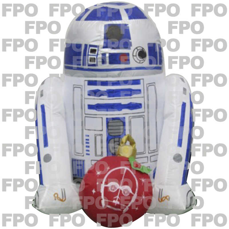 Gemmy  Star Wars R2D2 with Ornament  Christmas Inflatable  Fabric  1 pk