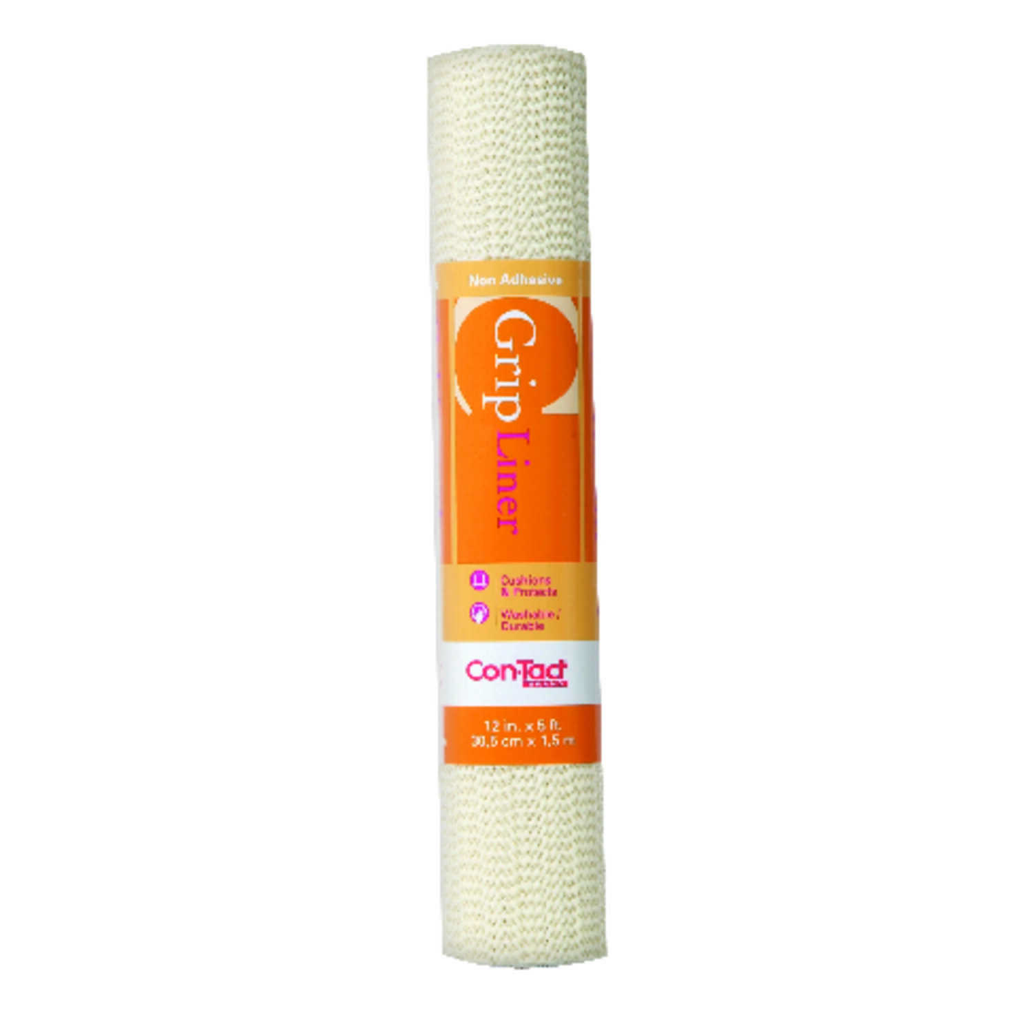 Con-Tact  Grip Liner  5 ft. L x 12 in. W Almond  Non-Adhesive  Liner