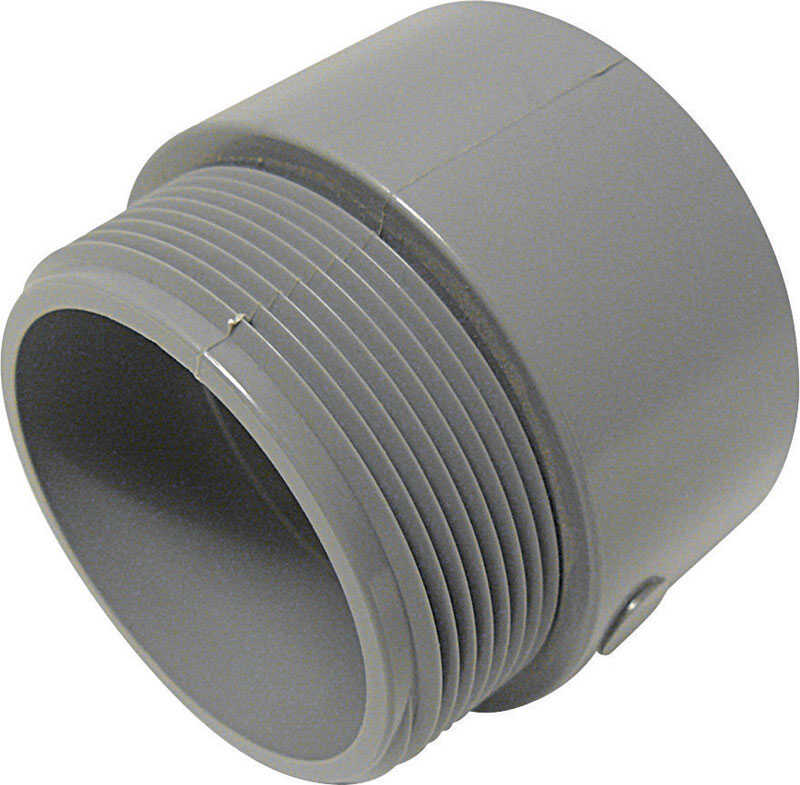 Cantex  3 in. Dia. PVC  Male Adapter  1 pk