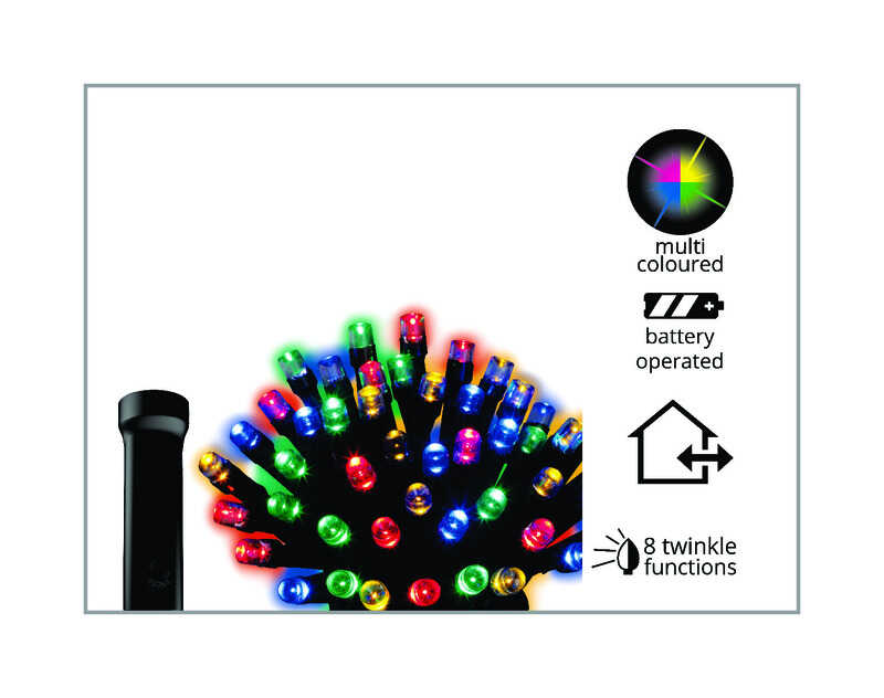 Celebrations  Durawise  LED  Battery Operated  Light Set  Multicolored  11.5 ft. 48 lights