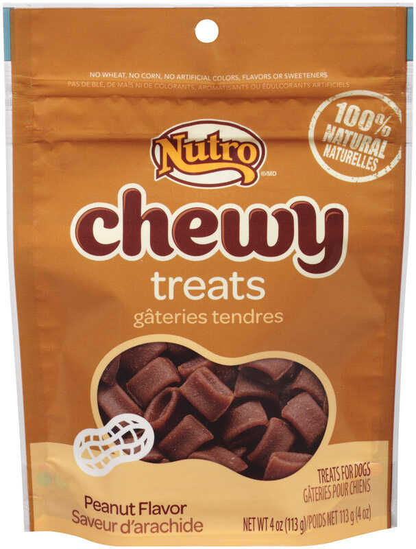 Nutro  Chewy  Peanut Butter  Dog  Treats  1 pk 4 oz.