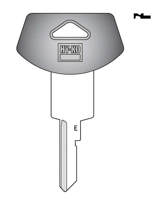 Hy-Ko  Automotive  Key Blank  EZ# B78P  Single sided For Fits 1994 And Older Ignitions