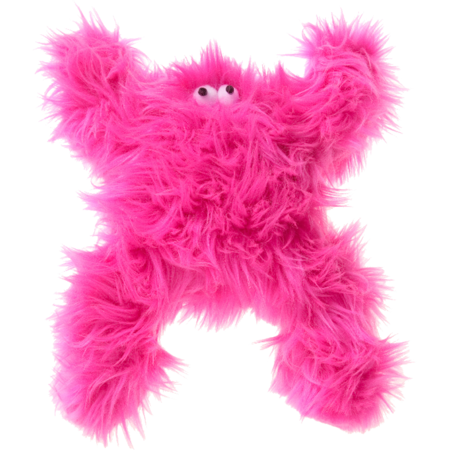 West Paw  Hot Pink  Plush  Squeaky Dog Toy  Boogey  Large