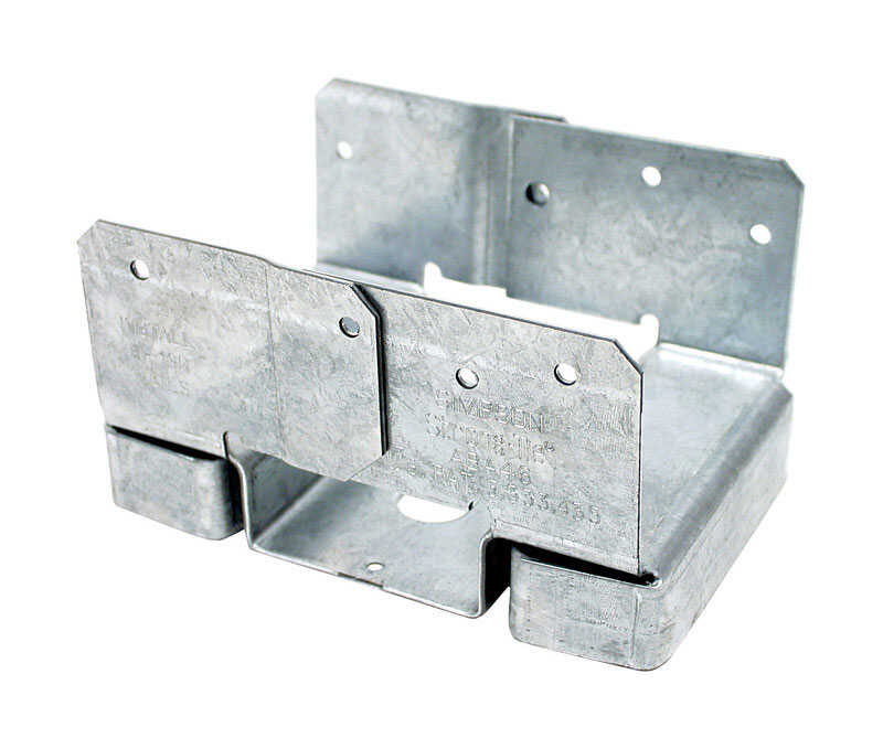 Simpson Strong-Tie  6 in. H x 4 in. W 14 Ga. Galvanized Steel  Post Base