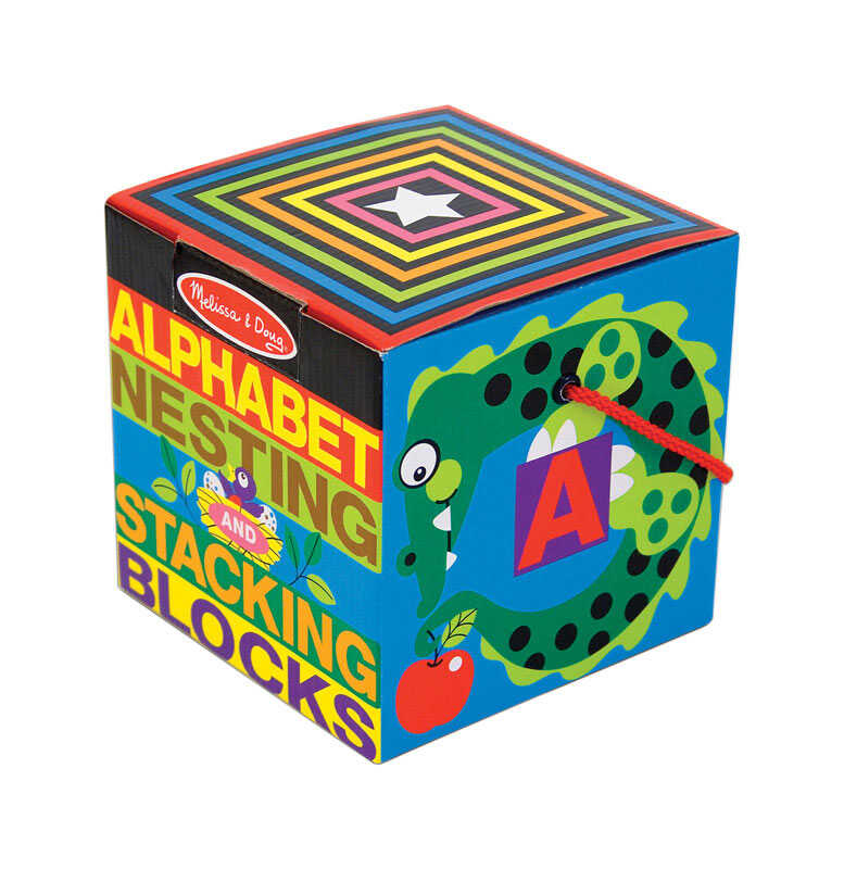 Melissa & Doug  Alphabet Nesting and Stacking Blocks  Cardboard