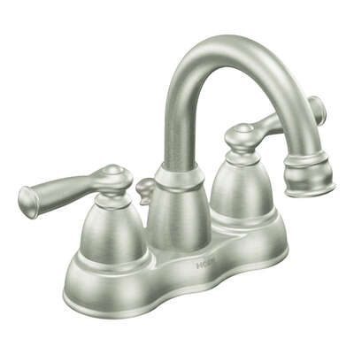 Moen  Banbury  Brushed Nickel  Two Handle  Lavatory Faucet  4 in.