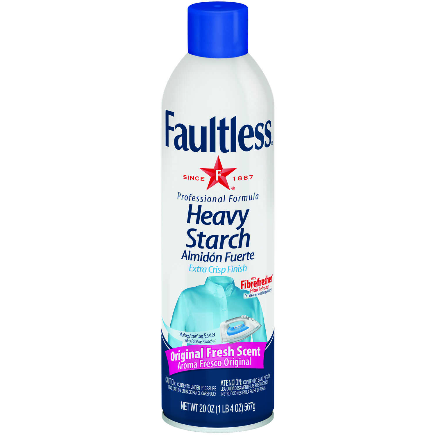 Faultless  Fresh Scent Heavy Starch  Liquid  20 oz.