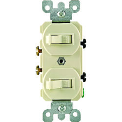 Leviton  15 amps Single Pole  Toggle  Switch  Ivory  1 pk