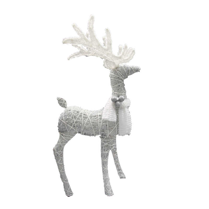 Celebrations  Standing Deer  LED Yard Art  White  1 pk Synthetic