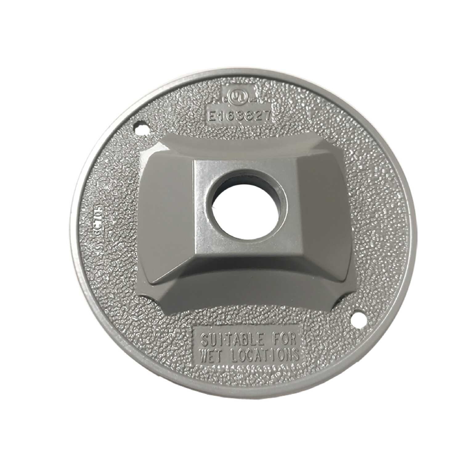 Sigma Electric  Round  Metal  Lampholder Cover  For Wet Locations