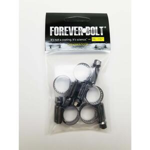 FOREVERBOLT  7/16 in. to 25/32 in. SAE 6  Black  Hose Clamp  Stainless Steel  Band