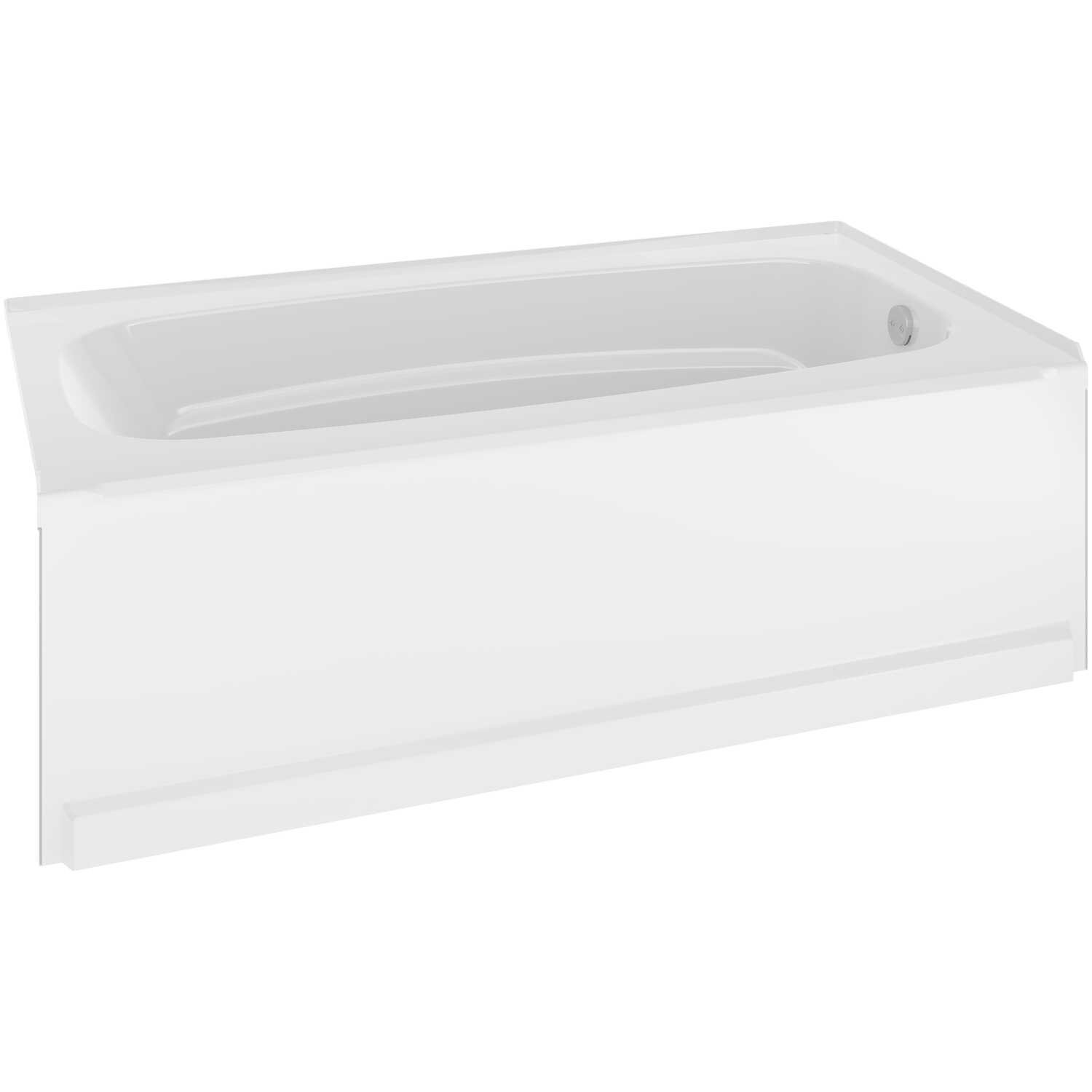 Delta Bathing System  Classic  White  One Piece  Right Hand  Rectangle  Bathtub