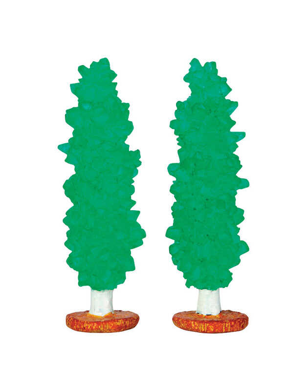 Lemax  Rock Candy Trees  Porcelain Village Accessory  Multicolored  2 pk Polyresin