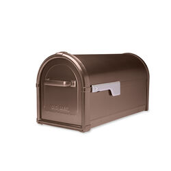 Architectural Mailboxes Hillsborough Galvanized Steel Post Mount Copper Mailbox