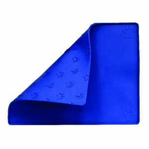 Prestige Prints  Blue  Plain  Rubber  1  Pet Bowl  For Universal