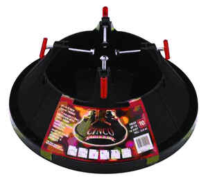 Cinco  Plastic  Black  Christmas Tree Stand  10 ft. Maximum Tree Height
