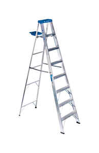 Werner  8 ft. H x 24.5 in. W Aluminum  Step Ladder  250 lb. capacity Type I