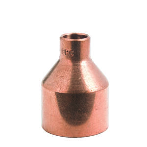 Mueller Streamline  1-1/2 in. Sweat   x 1/2 in. Dia. Sweat  Copper  Coupling with Stop