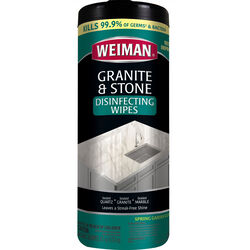 Weiman  Apple/Pear Scent Granite And Natural Stone Daily Cleaner  30 count Wipes
