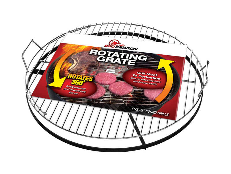 BBQ Dragon  Steel  Rotating Grill Grate  4.75 in. H x 22 in. W