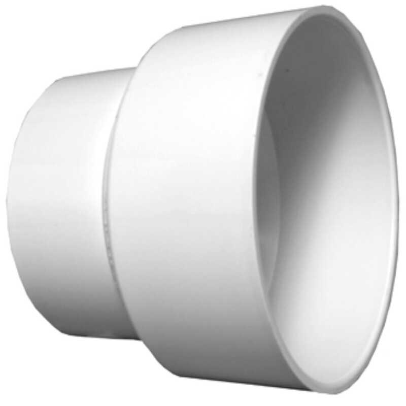 Charlotte Pipe  Schedule 40  4 in. Hub   x 6 in. Dia. Hub  PVC  Pipe Increaser/Reducer