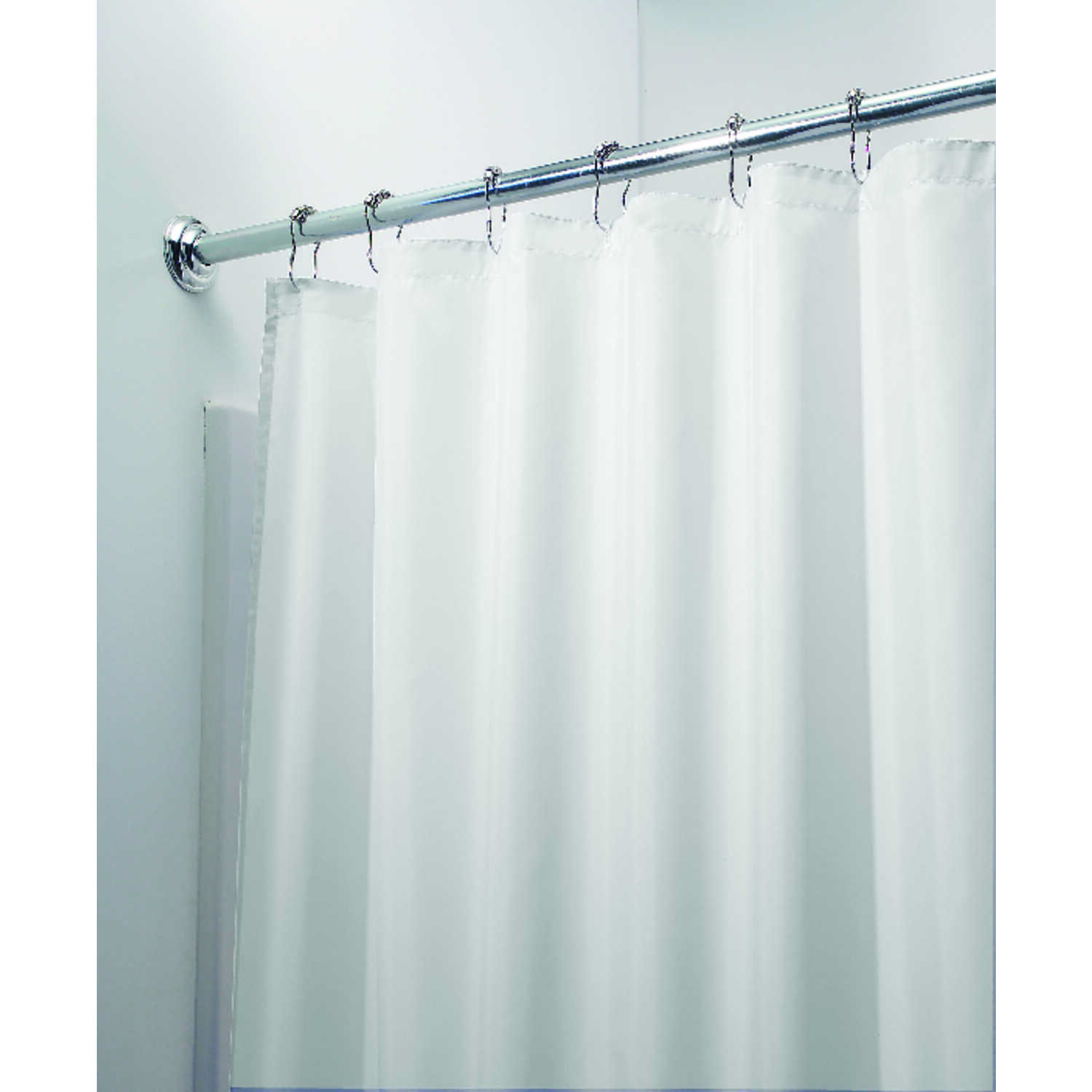 W White Solid Shower Curtain Liner