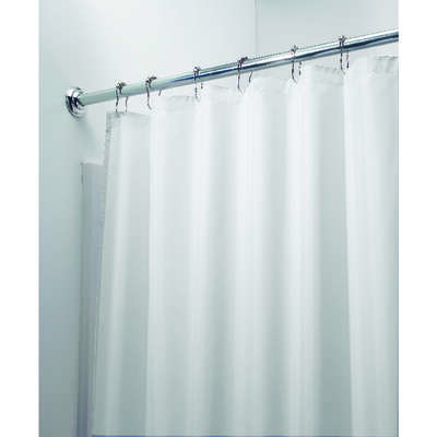 InterDesign  72 in. H x 72 in. W White  Solid  Shower Curtain Liner  Polyester