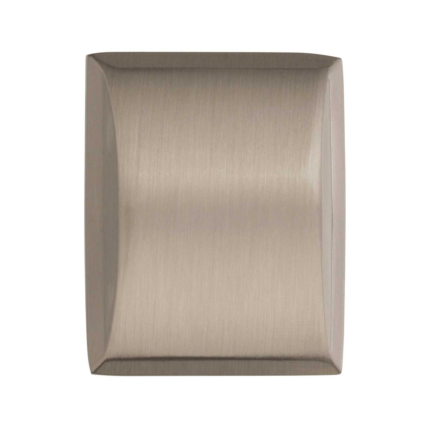 Amerock  Candler  Rectangle  Cabinet Knob  1-1/4 in. Dia. 1-1/8 in. Satin Nickel  5 pk