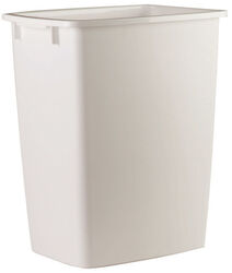 Rubbermaid  9 gal. White  Open Top  Wastebasket